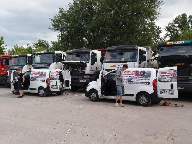 Serwis klimatyzacji ciężarówek